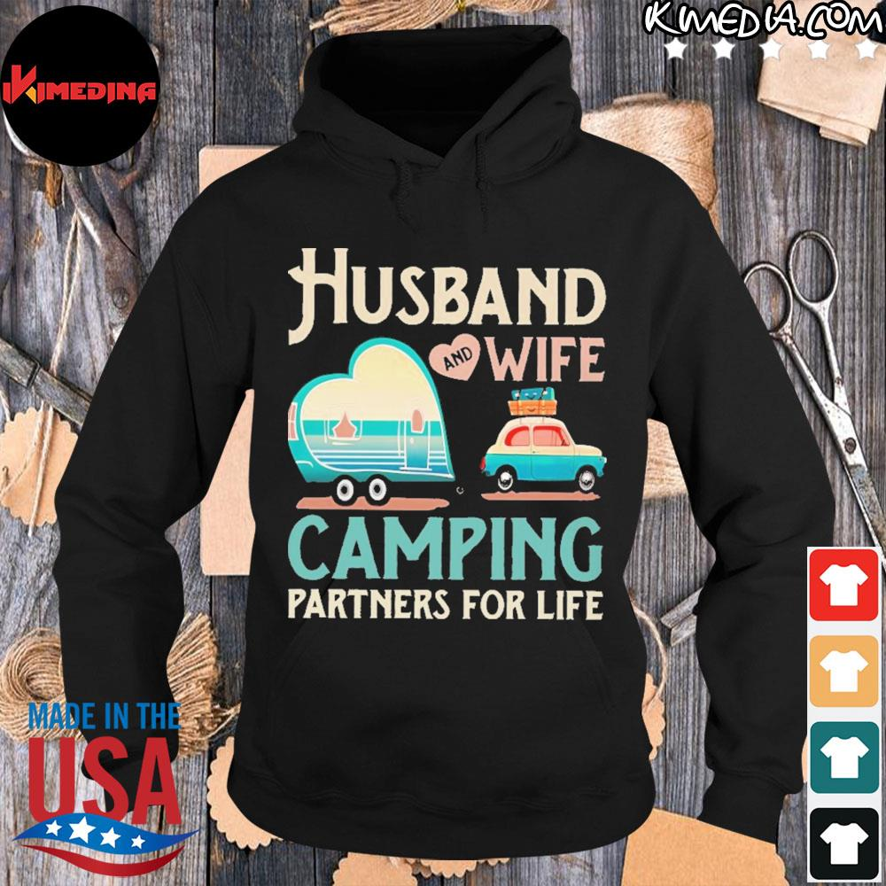 Husband and wife camping partners for life s hoodie-black