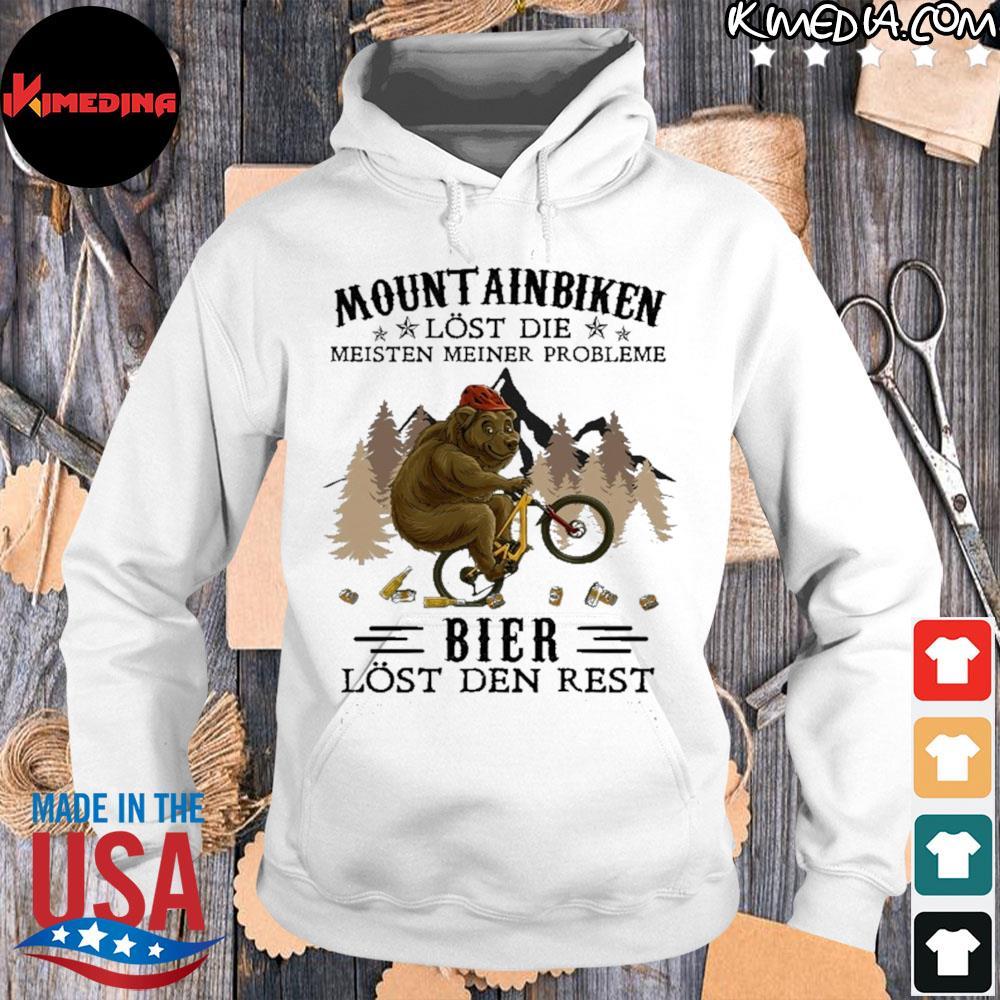 Mountainbiken lost die meisten meiner probleme bier lost der rest s hoodie-white