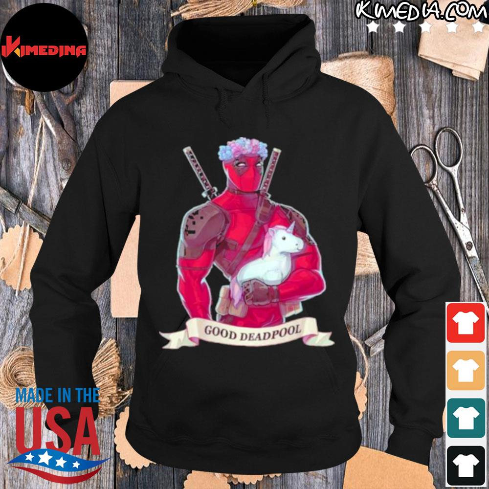 Official good Deadpool Unicorn Shirt hoodie-black