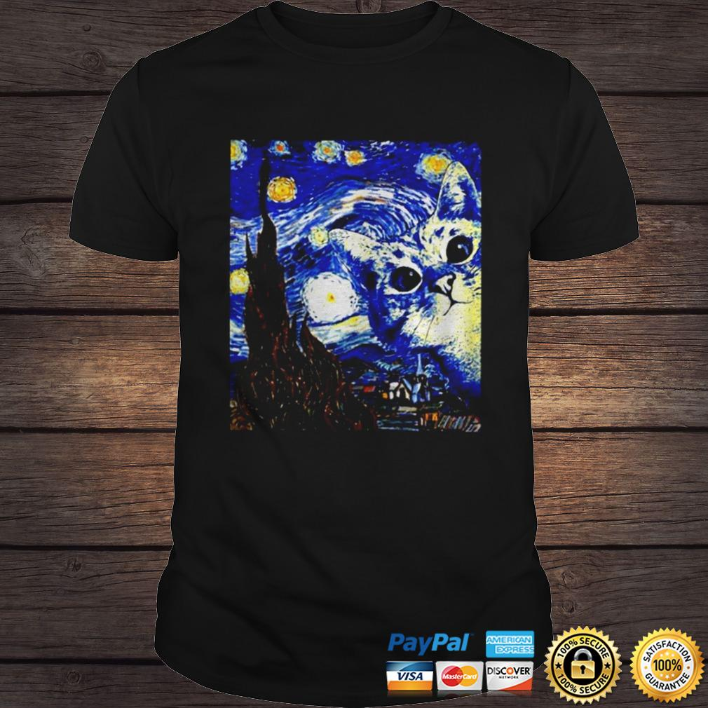 Starry Night Vincent van Gogh cat shirt Shirt