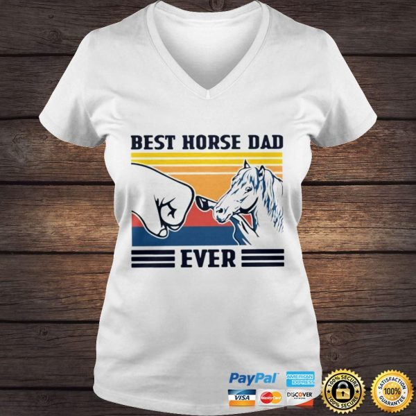 Best Horse Dad Ever Vintage Shirt Ladies V-Neck