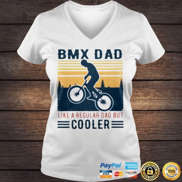 BMX Dad Like A Regular Dad But Cooler Vintage Shirt Ladies V-Neck