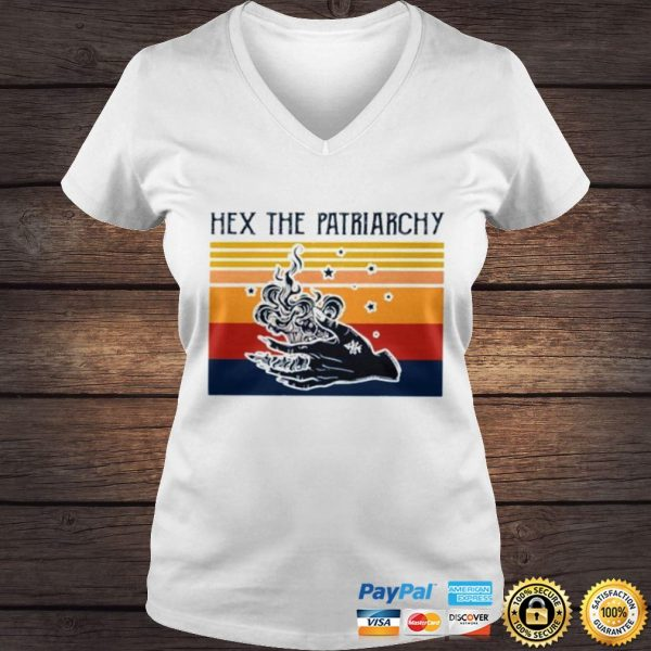 Vintage Hex the patriarchy shirt Ladies V-Neck