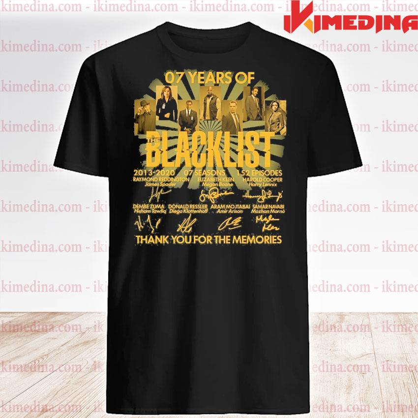 07 years of blacklist than you for the memories shirt