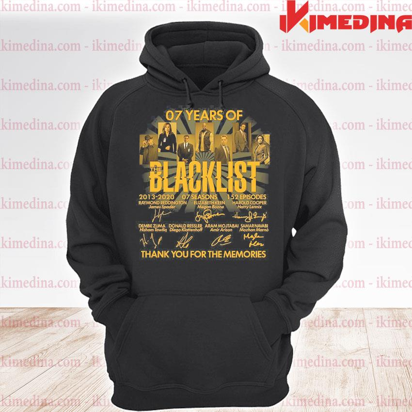 07 years of blacklist thank you for the memories s premium hoodie