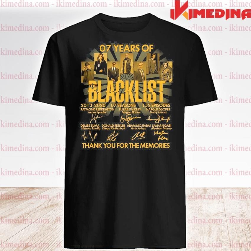 07 years of blacklist thank you for the memories shirt