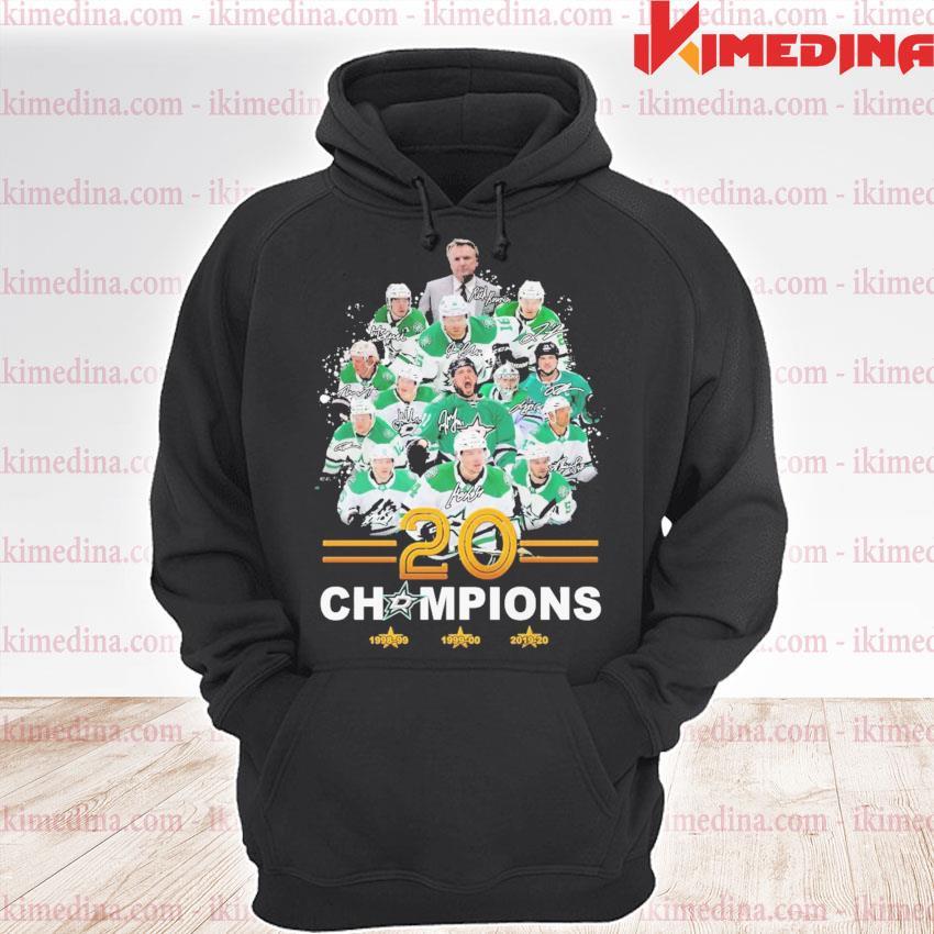 Dallas Stars player 20 champions signature s premium hoodie