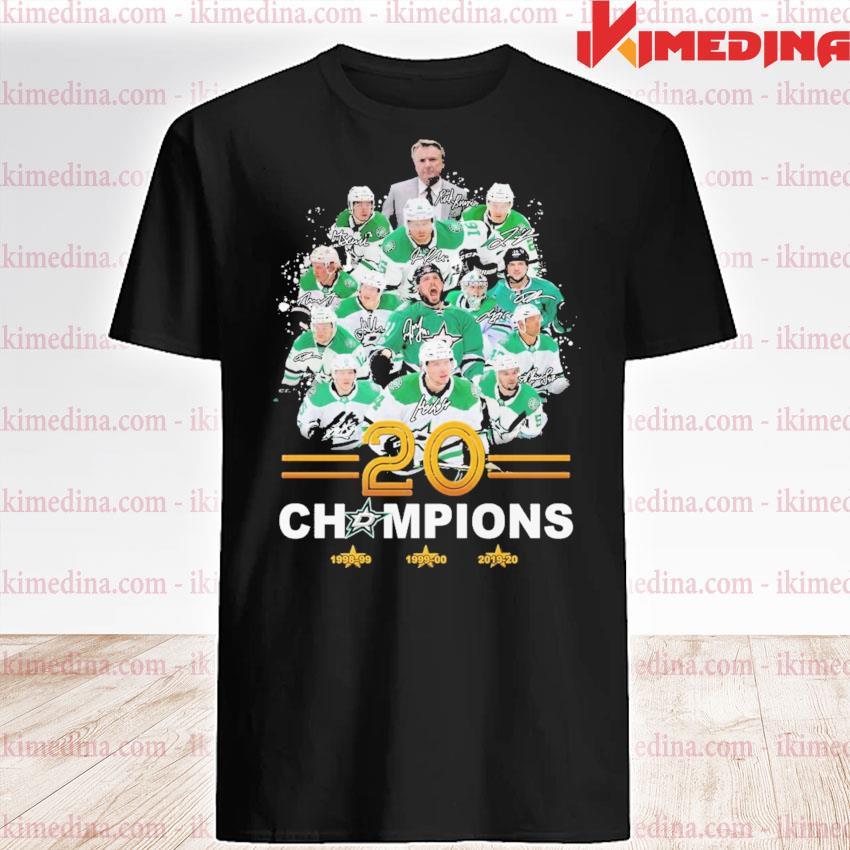Dallas Stars player 20 champions signature shirt