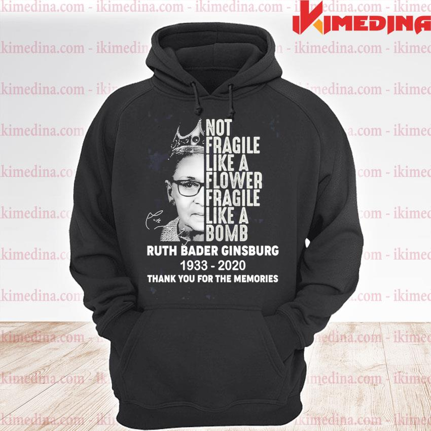 Rip Ruth Bader Ginsburg 1933 2020 signature thank you for the memories s premium hoodie