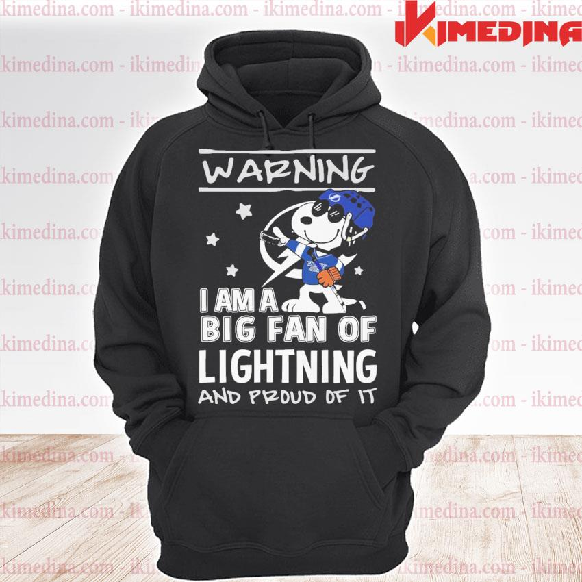 Snoopy Tampa Light warning I am a big fan of lightning and proud of It s premium hoodie