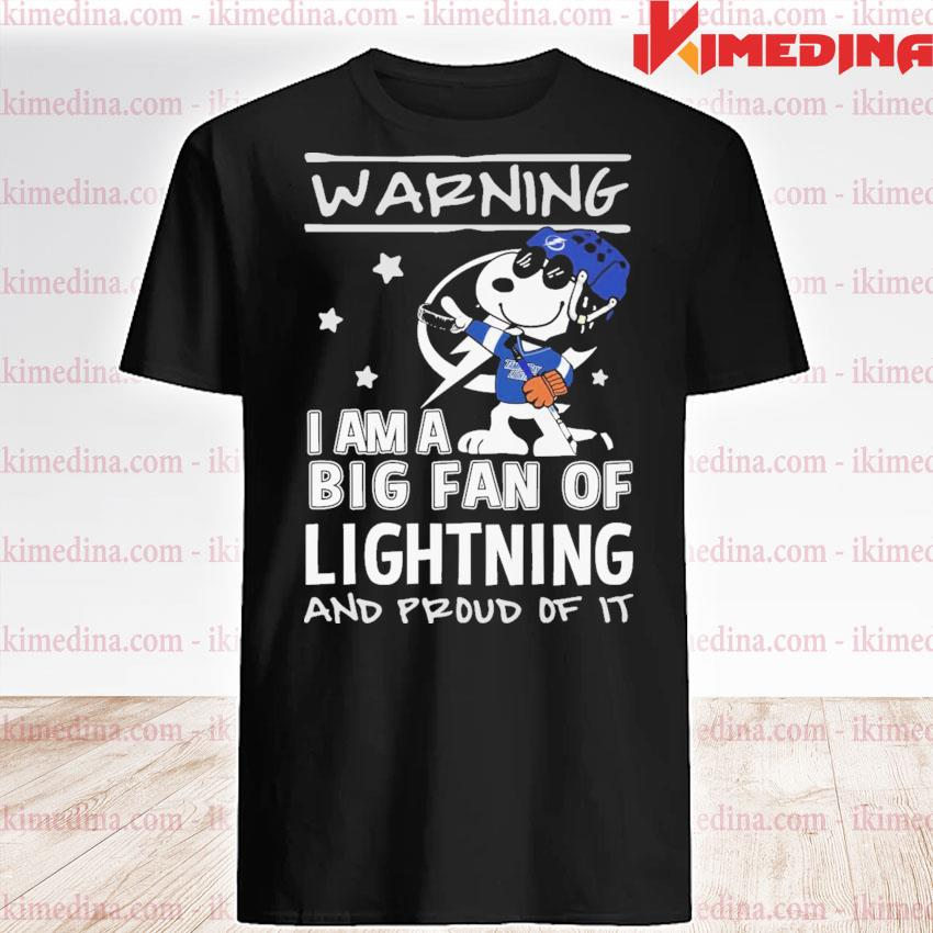 Snoopy Tampa Light warning I am a big fan of lightning and proud of It shirt