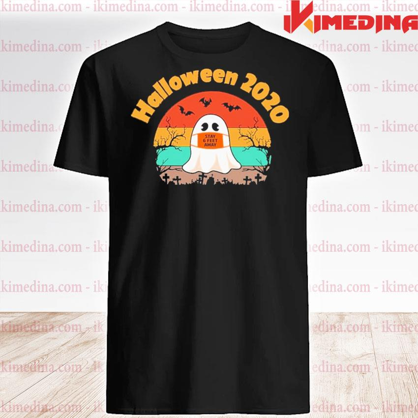 Boo face mask stay 6 feet away Halloween 2020 vintage shirt