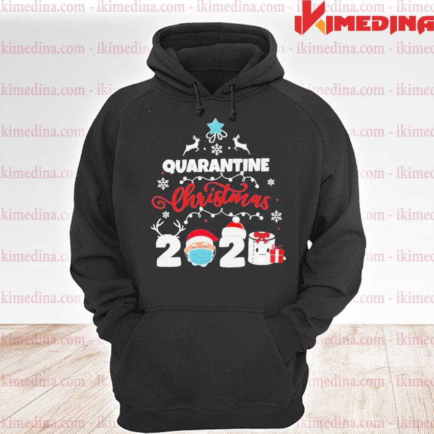 Official xmas quarantine christmas 2020 social distancing christmas s premium hoodie