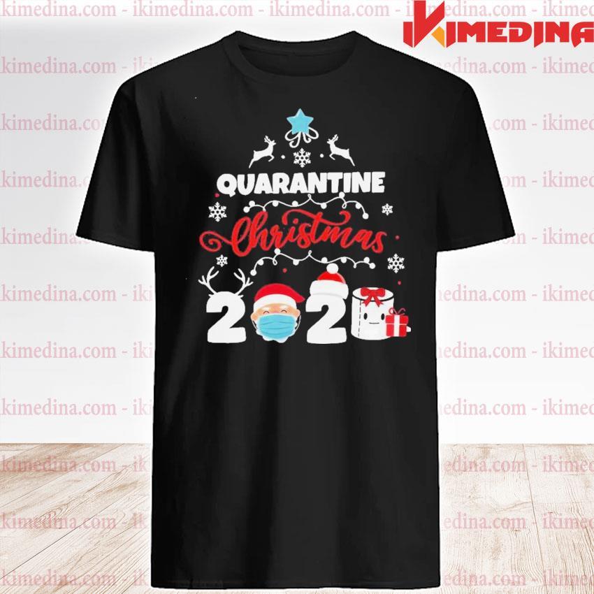 Official xmas quarantine christmas 2020 social distancing christmas shirt