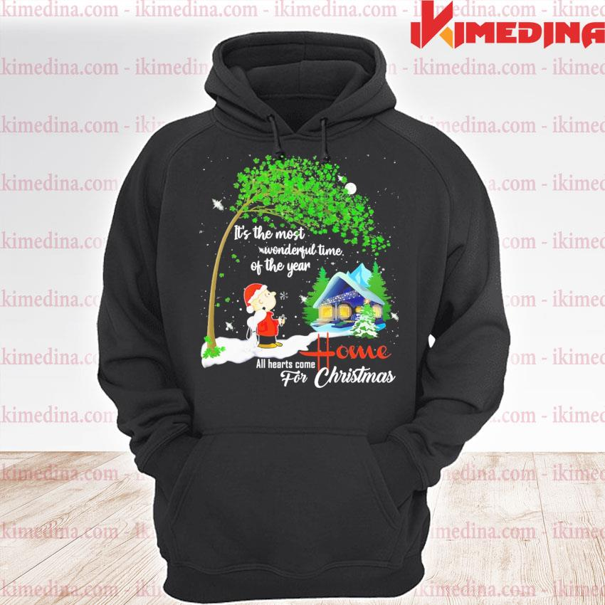 Snoopy and Charlie Brown all hearts come Home for Christmas s premium hoodie