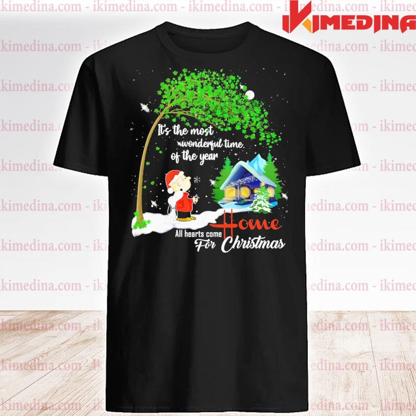 Snoopy and Charlie Brown all hearts come Home for Christmas shirt