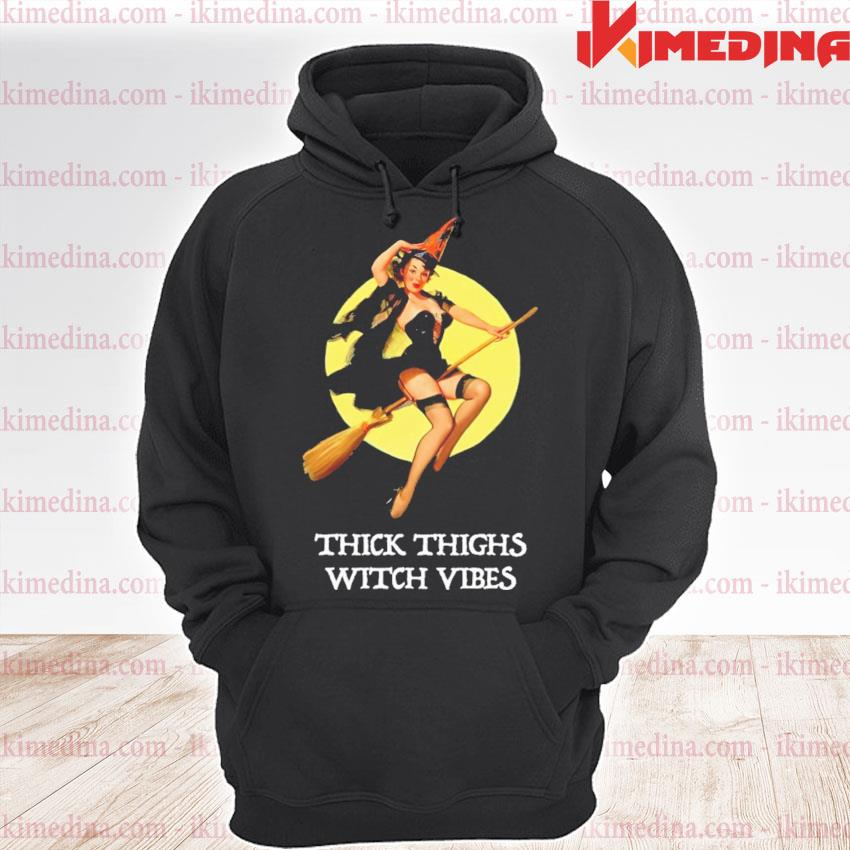Thick thighs With vines Halloween s premium hoodie