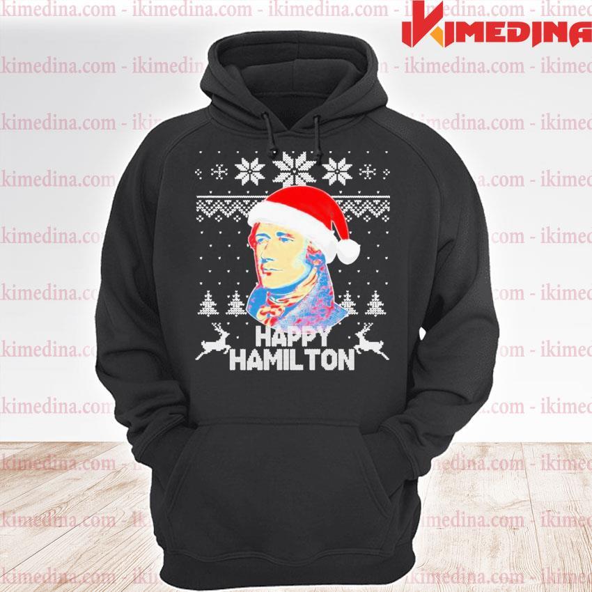 Happy hamilton santa ugly christmas s premium hoodie