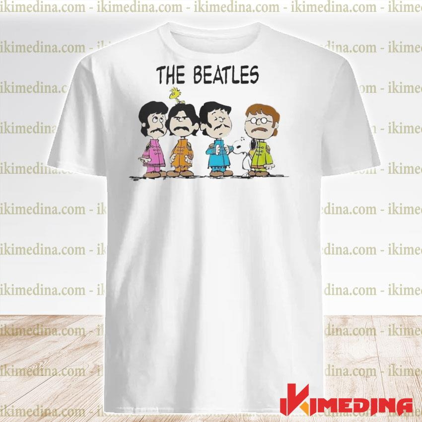 Official The Beatles and Snoopy shirt