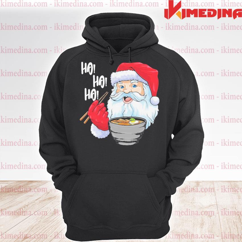Santa ramen noodles s premium hoodie