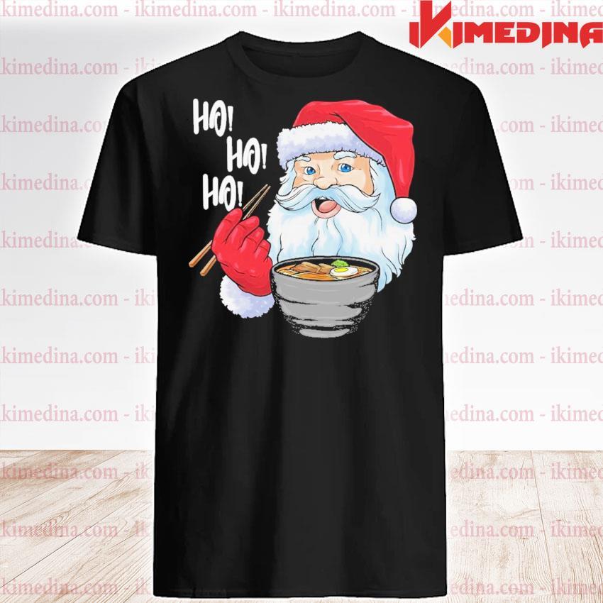 Santa ramen noodles shirt