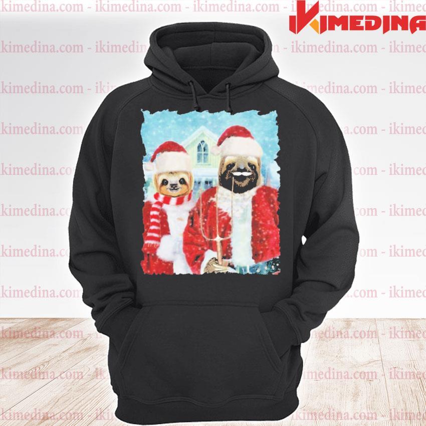 Sloth Santa happy Christmas 2020 s premium hoodie