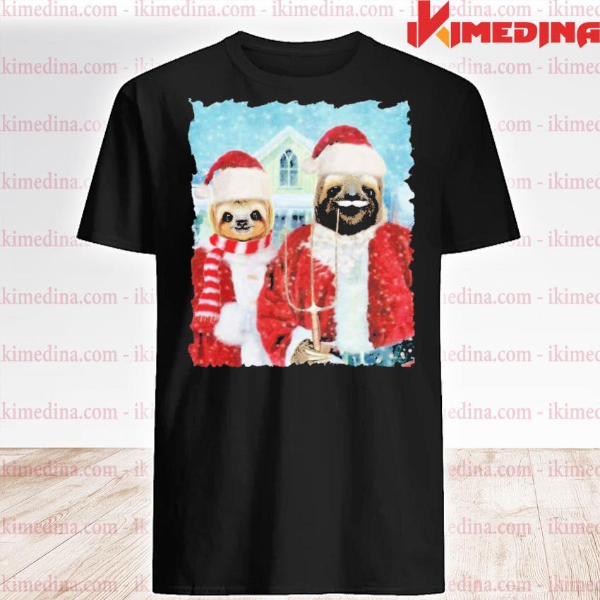 Sloth Santa happy Christmas 2020 shirt