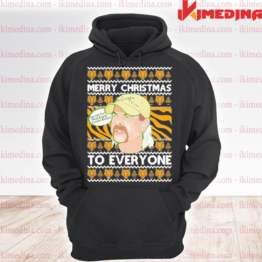 Tiger king merry christmas joe exotic big cat rescue carole baskin sh300 ugly christmas festive s premium hoodie
