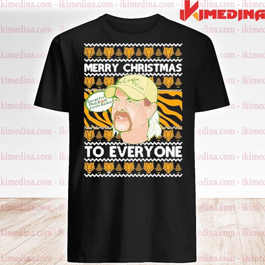 Tiger king merry christmas joe exotic big cat rescue carole baskin sh300 ugly christmas festive shirt
