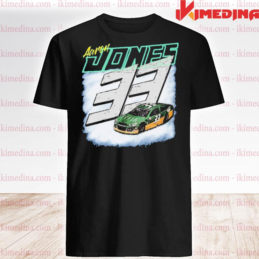 Official aaron jones packers 33 car shirt