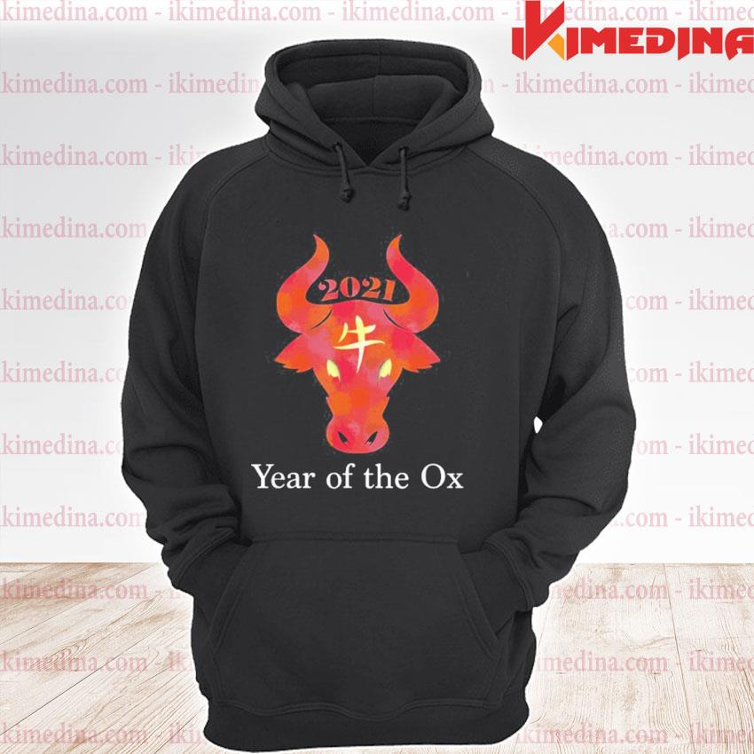 Official chinese new year 2021 xinnian kuaile year of the ox s premium hoodie