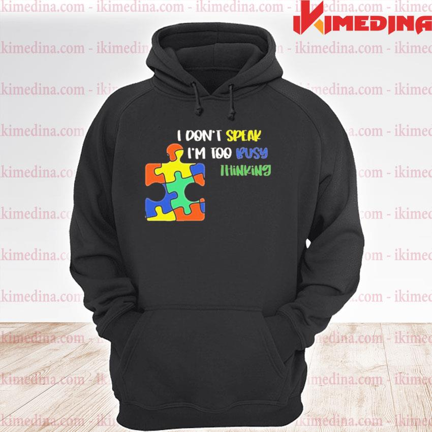 Official i dont speak i am too busy thinking puzzle s premium hoodie