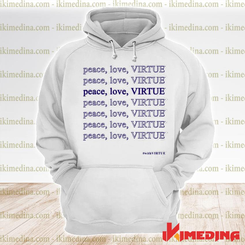 Official jennifer garner peace love virtue s premium hoodie