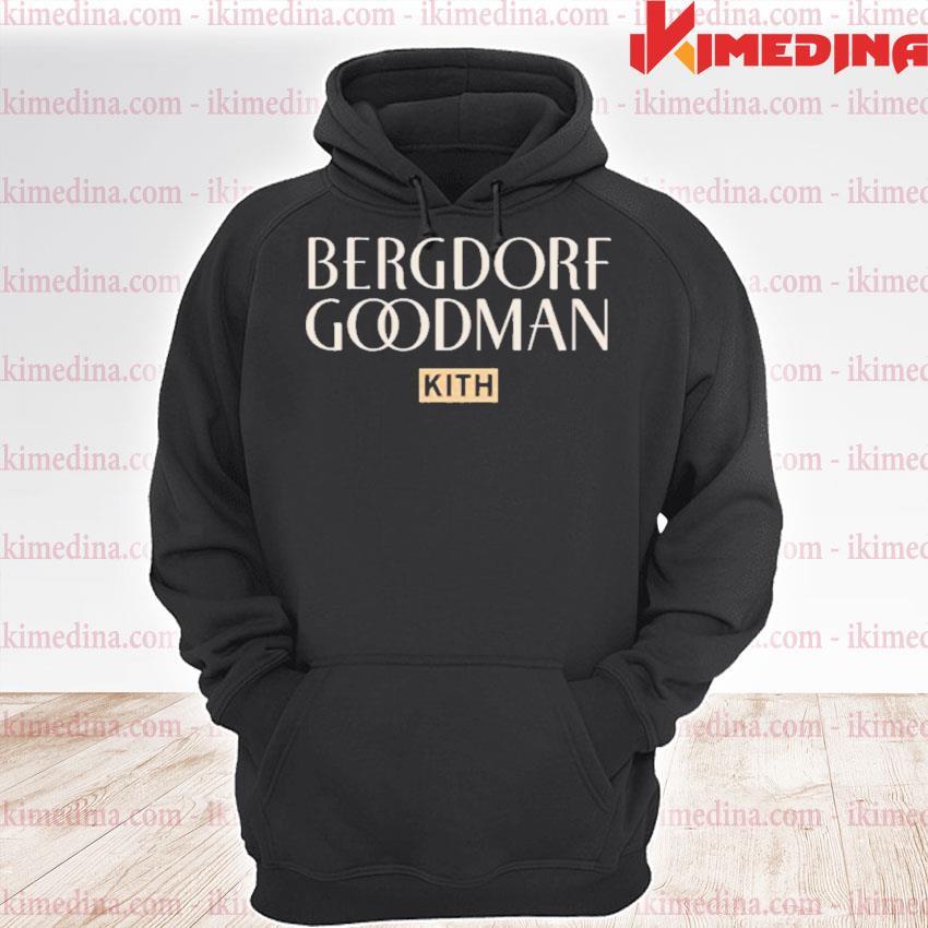 Official kith cotton logo bergdorf goodman s premium hoodie