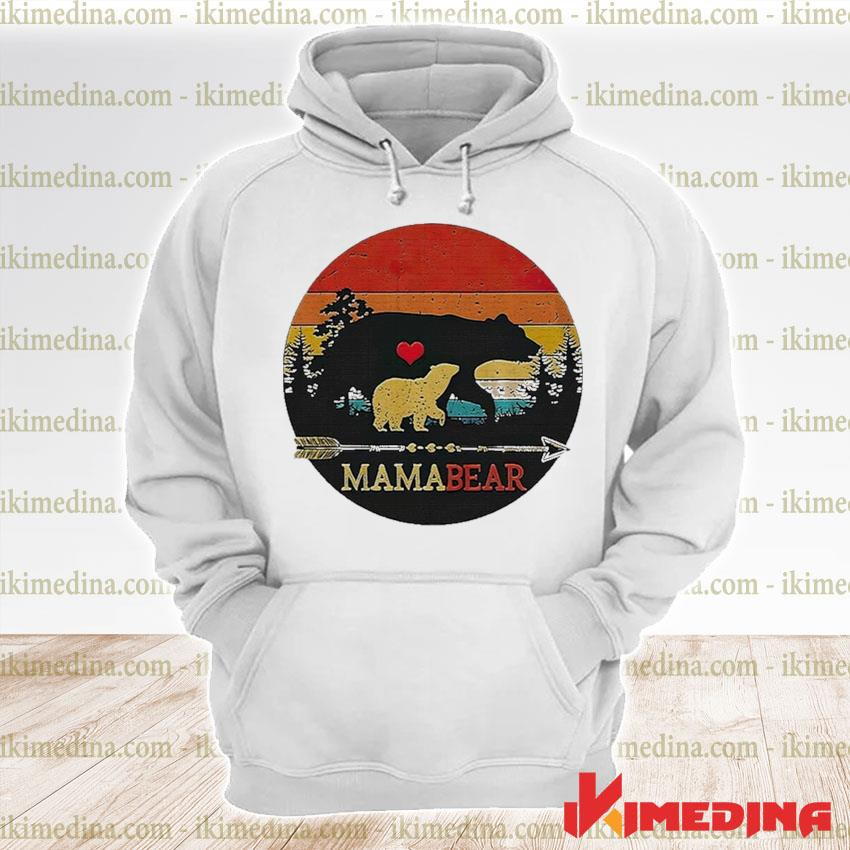 Official mama bear vintage sunset s premium hoodie