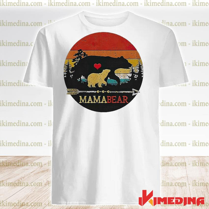 Official mama bear vintage sunset shirt