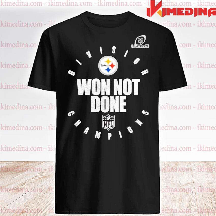 Official pittsburgh steelers afc north champions 2021 won not done shirt