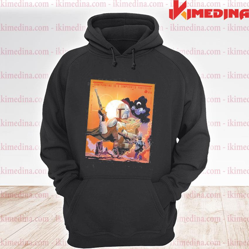 Official the mandalorian and baby yoda sunset s premium hoodie