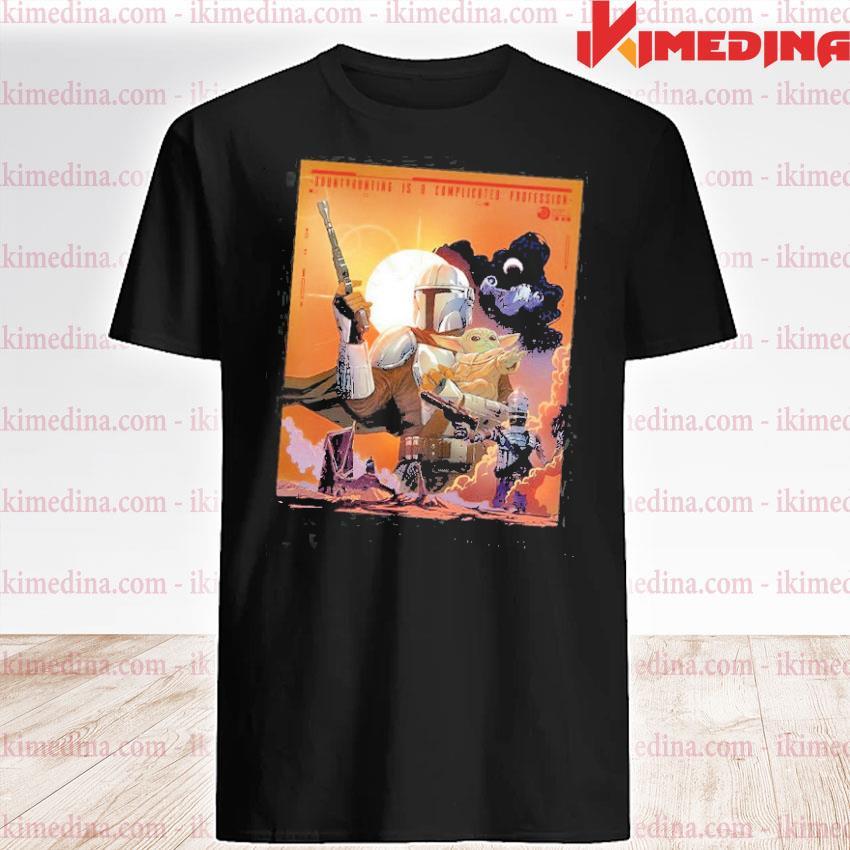 Official the mandalorian and baby yoda sunset shirt