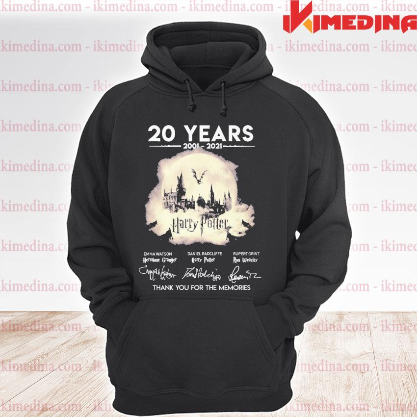 Official 20 years 2021 2021 harry potter thank you for the memories s premium hoodie