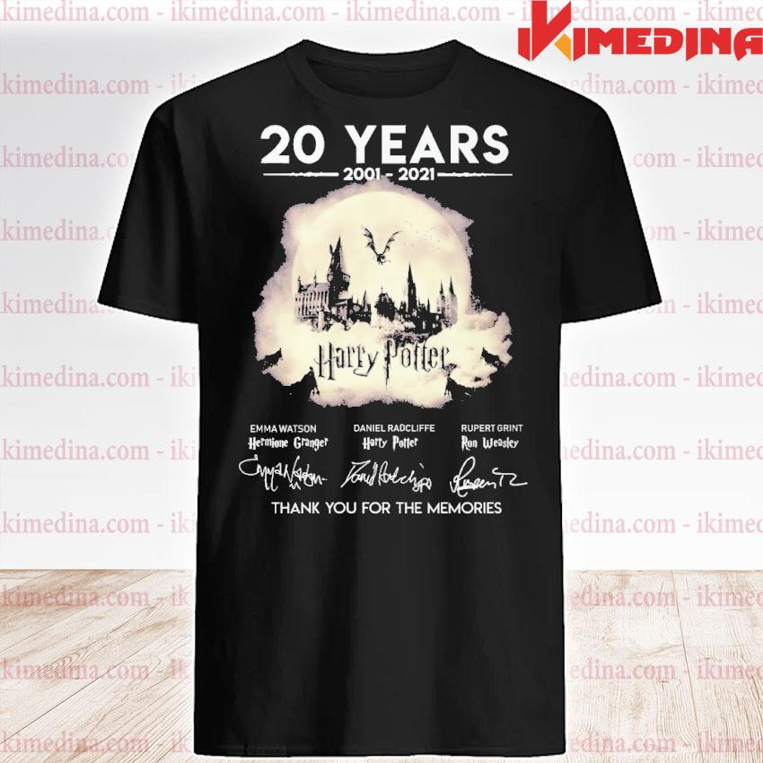 Official 20 years 2021 2021 harry potter thank you for the memories shirt