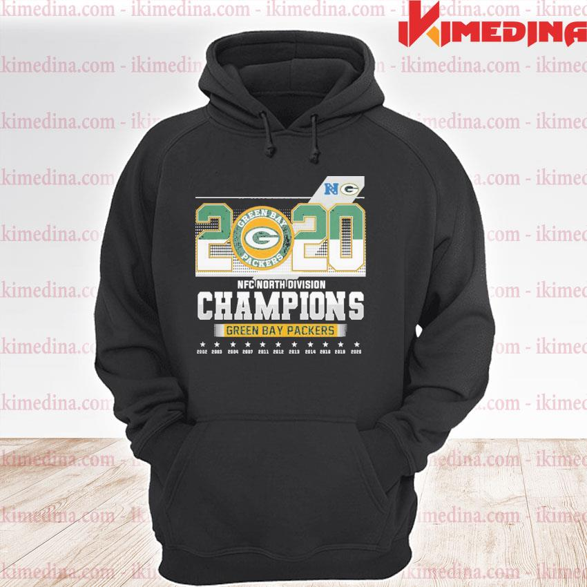 Official 2020 nfc north division champions green bay packers 2021 s premium hoodie
