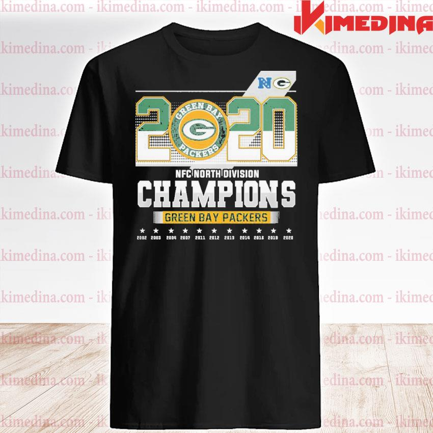 Official 2020 nfc north division champions green bay packers 2021 shirt