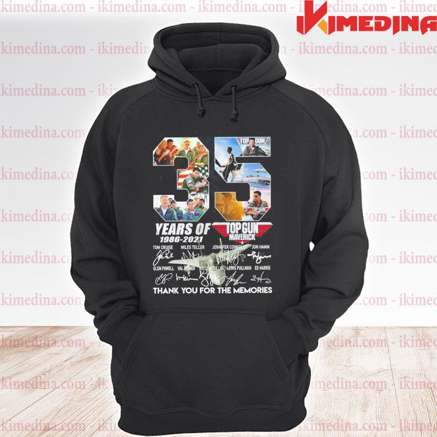 Official 35 years of top gun 1986 2021 thank you for the memories signatures s premium hoodie