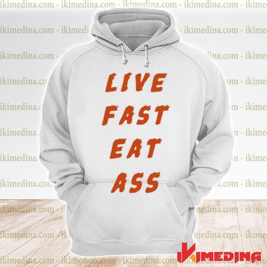 Official 3rd class merch live fast eat ass s premium hoodie