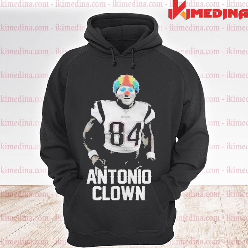 Official 84 patriots antonio brown clown s premium hoodie