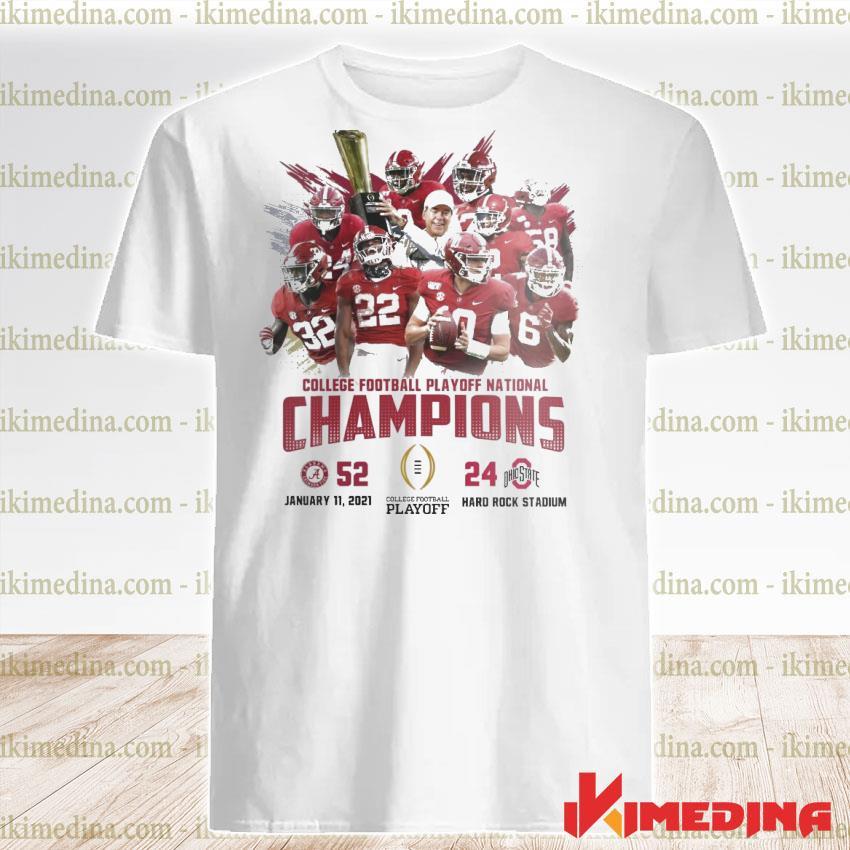 Official alabama crimson college football playoff national champions 2021 shirt