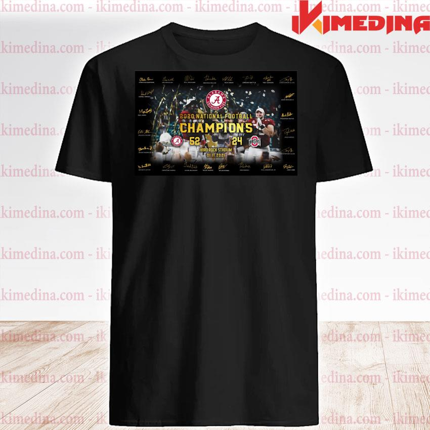 Official alabama crimson tide 2020 national football champions hard rock stadium 01 11 2021 shirt