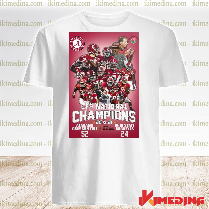 Official alabama crimson tide cup cfp national champions 2021 52 24 ohio state buckeyes shirt