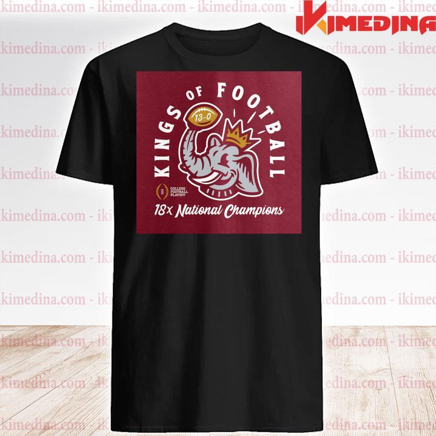 Official alabama crimson tide kings of football 18x national champions shirt